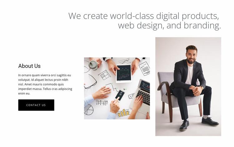 Digital products and web design Website Mockup