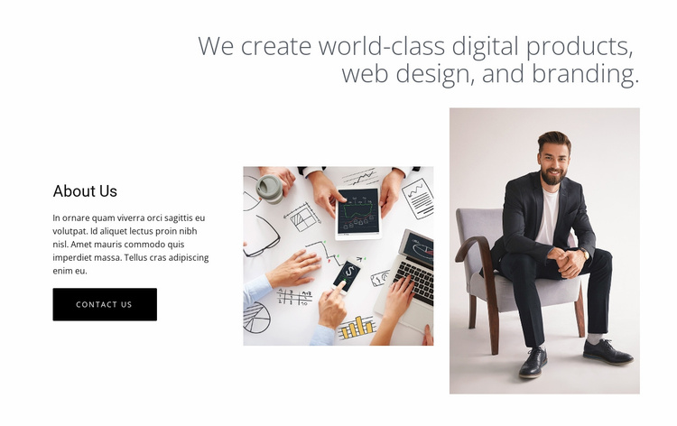 Digital products and web design Website Template