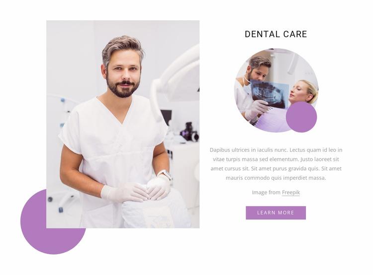Luxury dental care Website Template