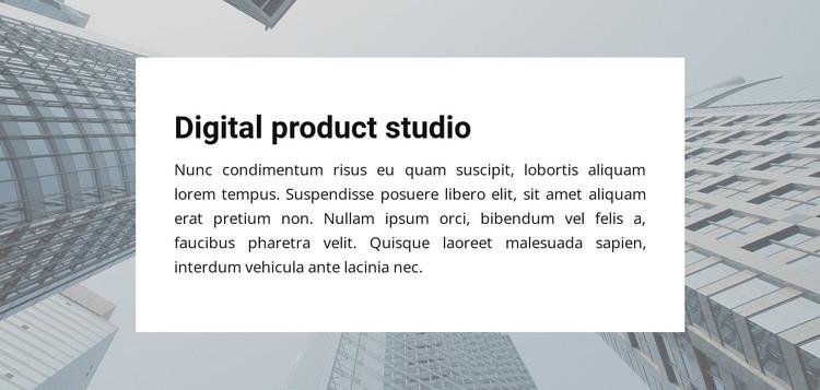 Digital Product Studio Web Design