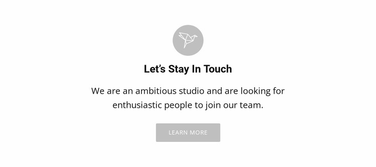 Lets stay touch Website Mockup