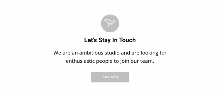 Lets stay touch Website Template