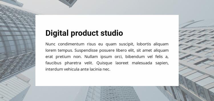 Digital Product Studio Website Template