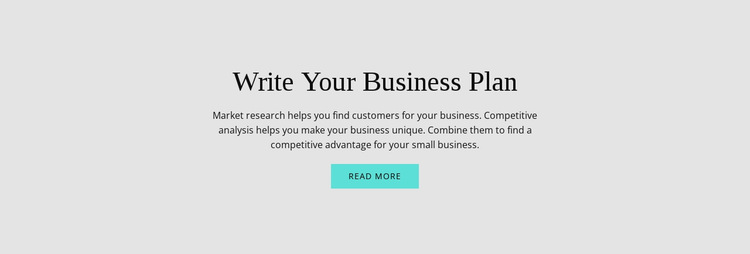 Text about business plan HTML5 Template