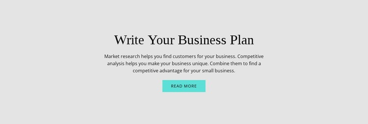 Text about business plan Static Site Generator
