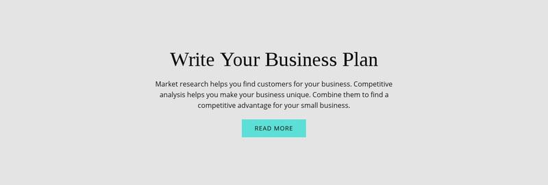 Text about business plan Website Creator