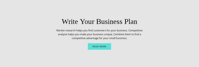 Text about business plan Website Maker