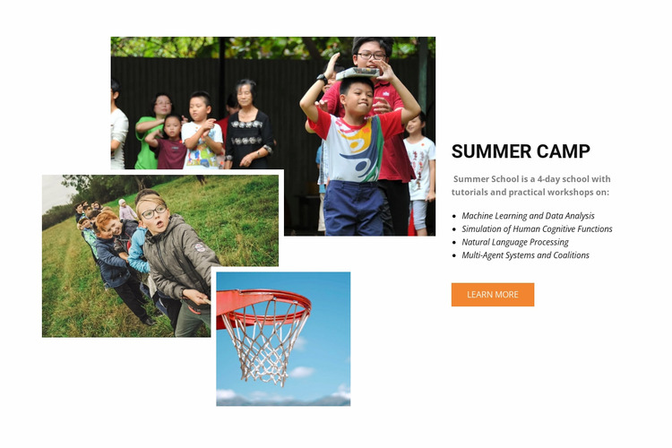 Summer camp in Spain WordPress Website Builder