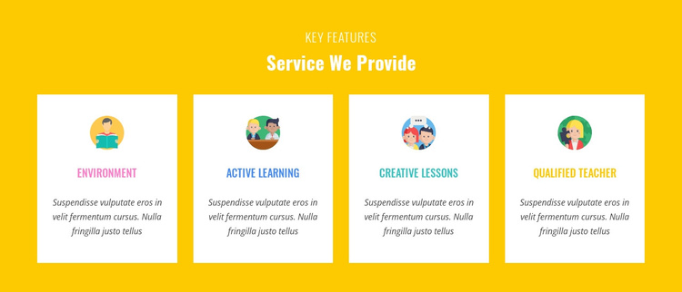 Features Our Service Provide Joomla Template