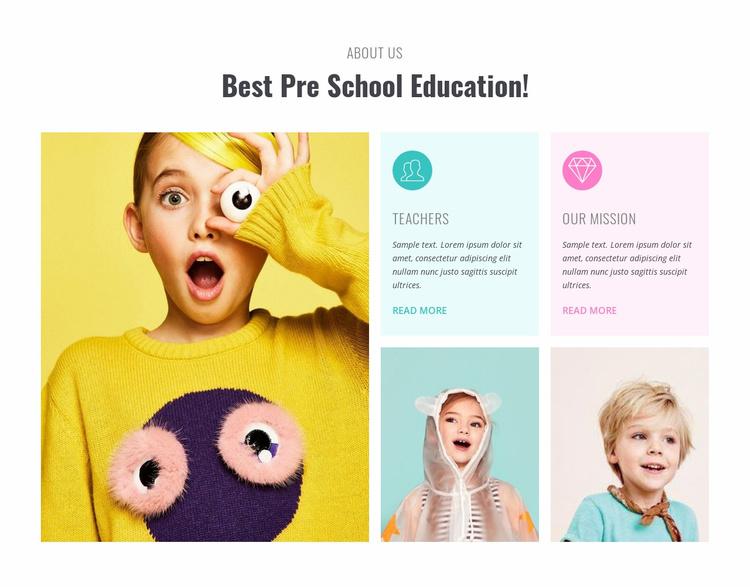 Preschool learning  Website Template