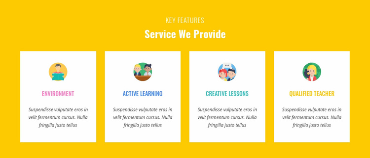Features Our Service Provide Website Template
