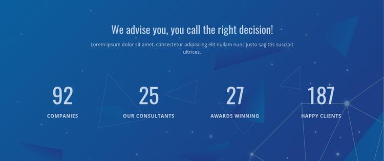 Counter Our Result Html Website Builder