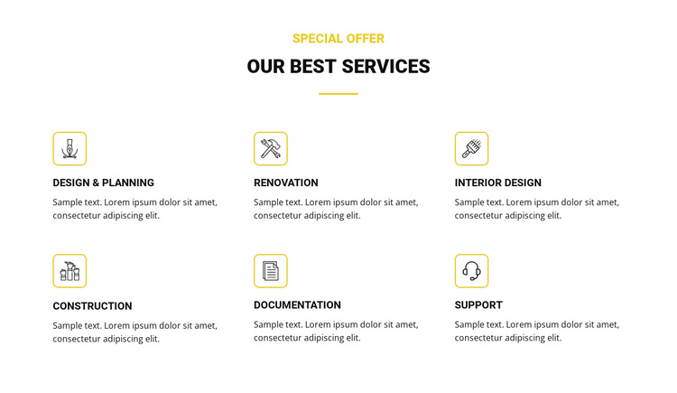 Our Best Services Joomla Page Builder