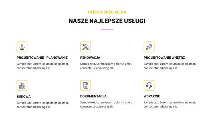 Nasze najlepsze usługi Szablon witryny sieci Web