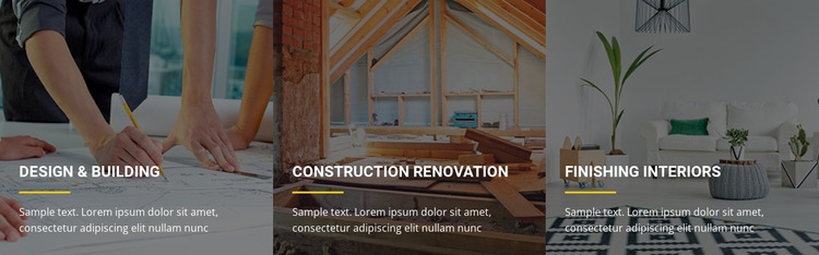 Building expansions and renovations Website Mockup