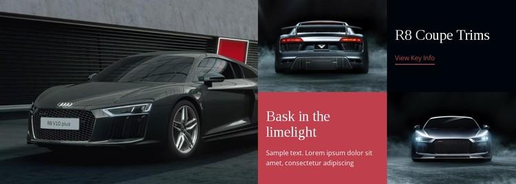 Modern cars  CSS Template