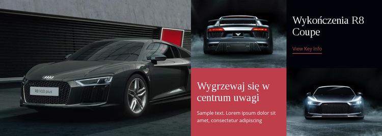 Nowoczesne samochody Szablon witryny sieci Web