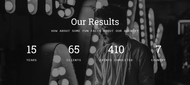 Our results Website Mockup