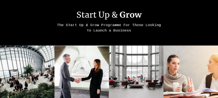 Start up and grow Website Mockup