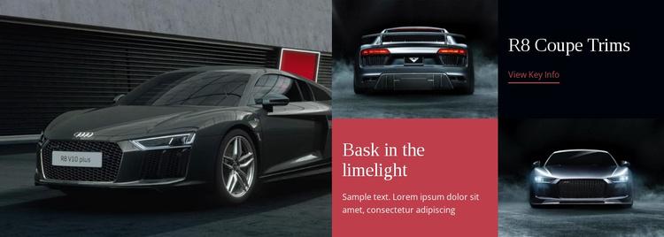 Modern cars  Website Template