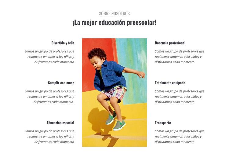 Tipos de preescolar Plantilla de sitio web