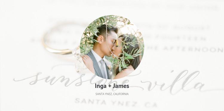 Newlyweds сouple HTML Template