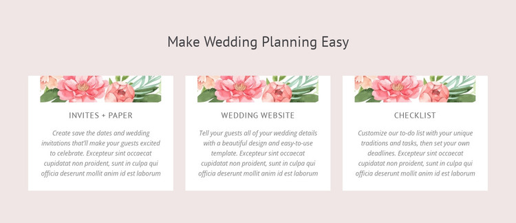 Essential wedding planning tips HTML Template
