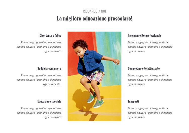 Tipi di scuola materna Modello di sito Web