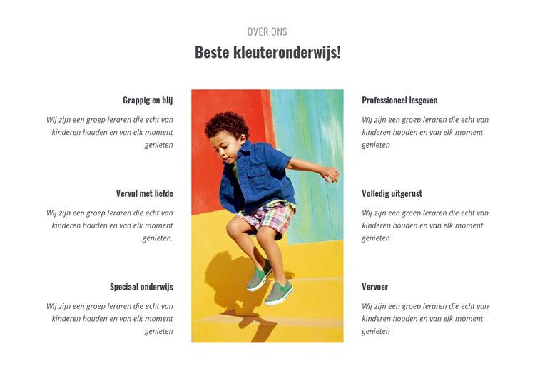 Soorten kleuterschool Website sjabloon