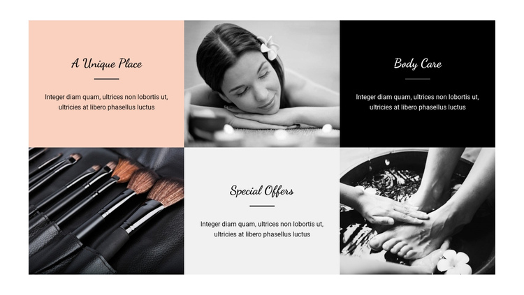 Specialty treatments One Page Template