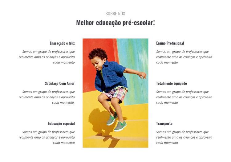 Tipos de pré-escola Modelo de site
