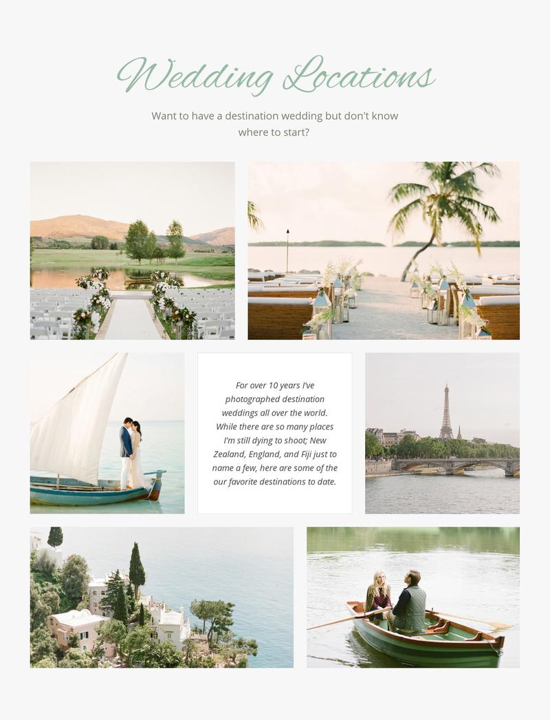 Wedding Locations Website Maker