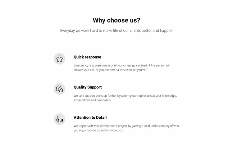 Features Our Company Html Website Builder