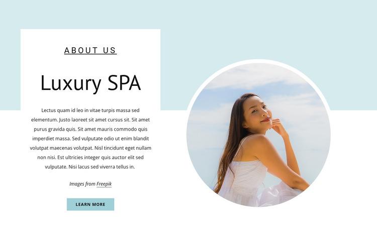 Rejuvenating Spa Treatments HTML5 Template