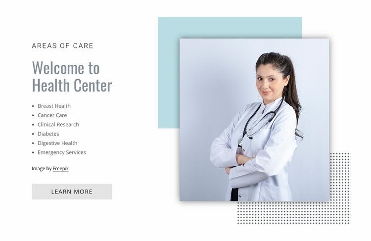 Health center Web Page Designer