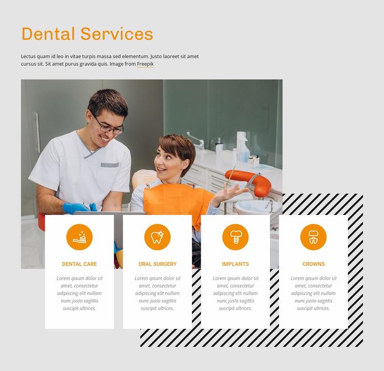 Dental treatment center Website Mockup