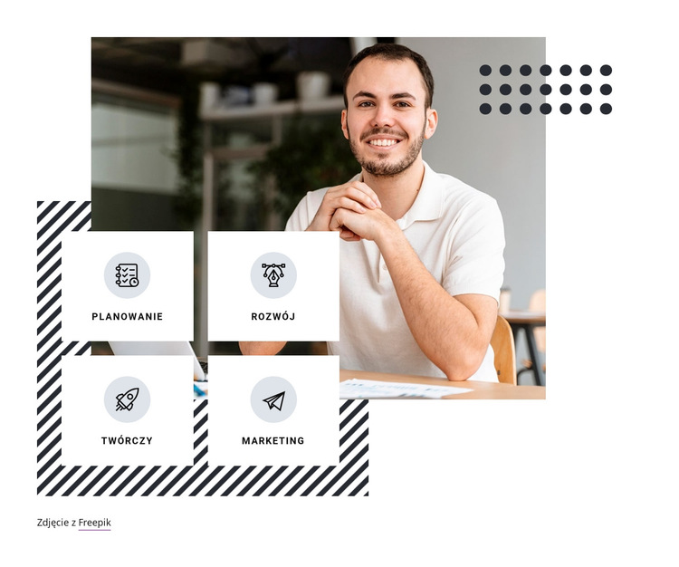 Rozwój biznesu i marketing Szablon witryny sieci Web