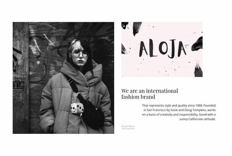 International fashion brand  Website Template