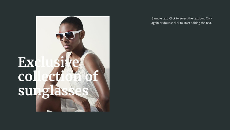 Different sunglasses HTML Template