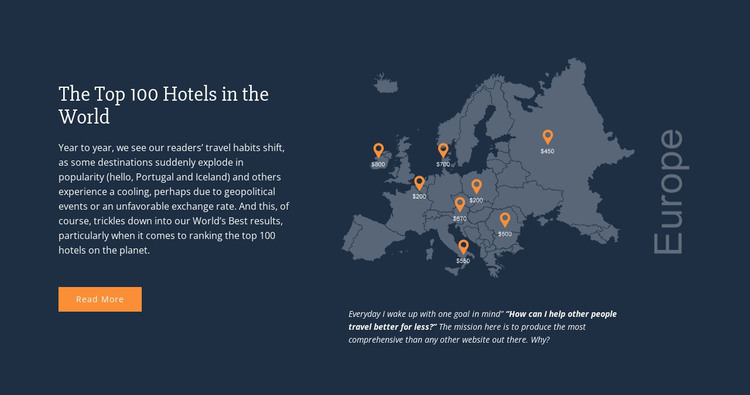 Top 100 Hotels in the World Web Design