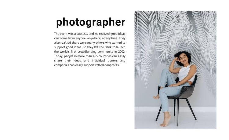 Studio photography lessons Web Page Designer