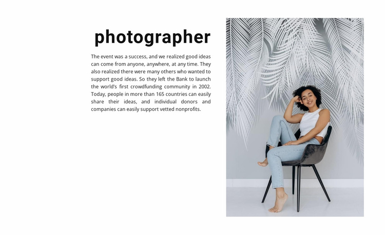 Studio photography lessons Website Template