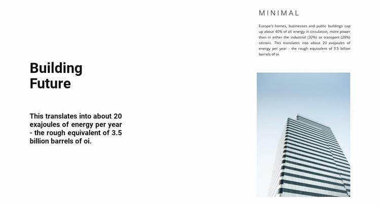Construction in cities Website Template