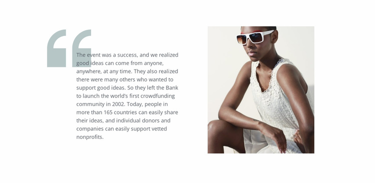 Fashion quotes Website Template