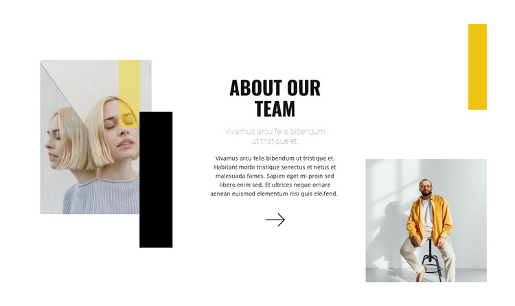 A team of young stylists HTML Template