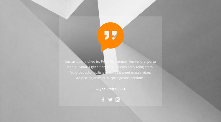 Quote in the background picture HTML Template