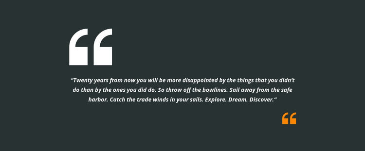 Two quotes and text HTML Template