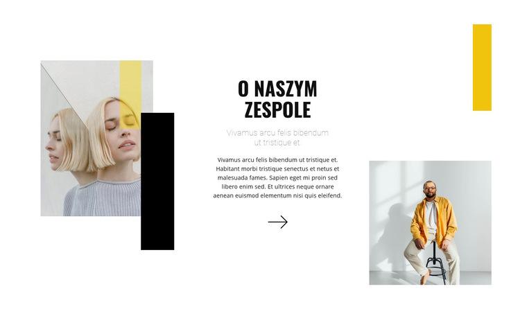 Zespół młodych stylistów Szablon witryny sieci Web