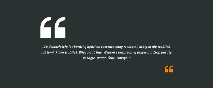 Dwa cytaty i tekst Szablon witryny sieci Web