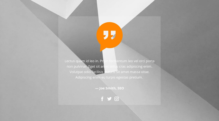 Quote in the background picture Website Design